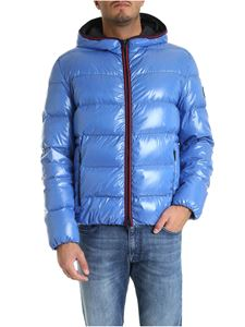Fay - Turquoise down jacket with hood