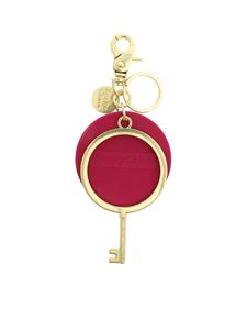 See by Chloé - Jey Rubber keychain in fuchsia and gold