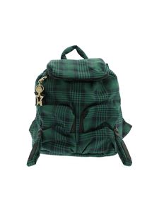 See by Chloé - Joy green backpack with tartan pattern