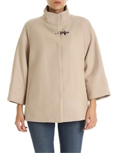 Fay - Beige padded cape with Fay hook