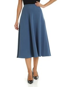 L'Autre Chose - Midi skirt in pale blue color