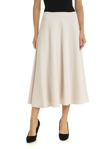 L'Autre Chose - Midi skirt in ivory color