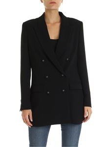 L'Autre Chose - Double-breasted blazer in black crepe