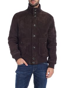 Paolo Pecora - Brown suede bomber jacket