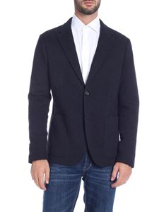 Paolo Pecora - Blue single-breasted jacket with notch lapels