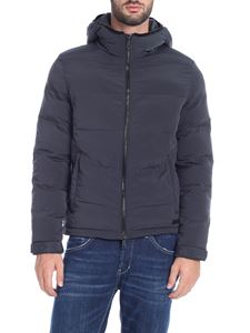 Paolo Pecora - Anthracite down jacket with hood