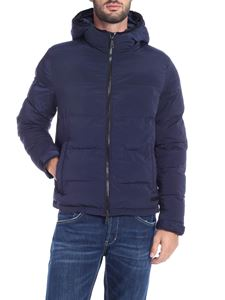 Paolo Pecora - Dark blue down jacket with hood