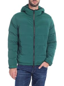 Paolo Pecora - Green down jacket with hood
