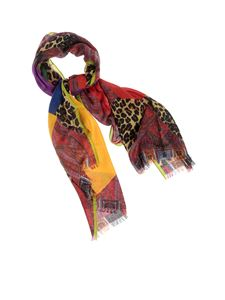 Etro - Color block Paisley and animal print patchwork scarf
