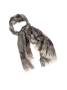 Etro - Paisley scarf in shades of green and red
