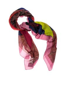 Etro - Paisley and color block shawl