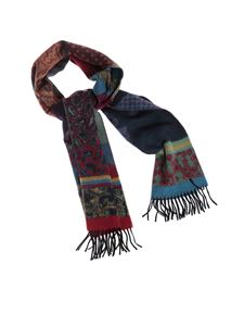 Etro - Paisley and stripes jacquard scarf