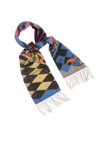 Etro - Animals print soft felt-effect scarf