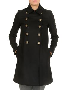Dondup - Double-breasted coat with jewel buttons