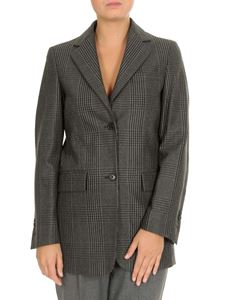 Dondup - Prince of Wales blazer in anthracite color