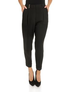 Peserico - Pleated trousers in black