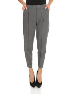Peserico - Pleated trousers in gray