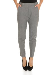 Peserico - Elasticated waist trousers in gray