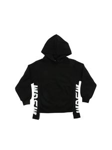 MSGM - Black sweatshirt with branded bands