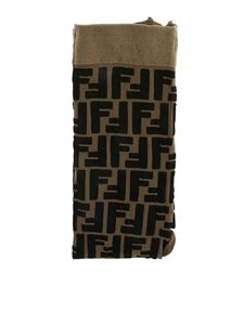 Fendi Jr - Brown and black FF logo tights