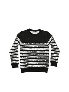 Balmain - Black sweatshirt with Balmain logo
