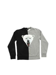 Marcelo Burlon Kids - Bear bicoloured sweatshirt