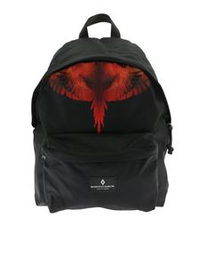 Marcelo Burlon Kids - Zaino Wings Planet nero
