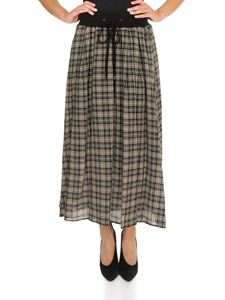 Peserico - Checked skirt in beige and black