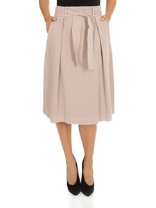 Peserico - Skirt in beige with pleats