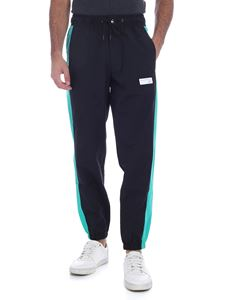 New Balance - Windbrkr pants in black and light blue