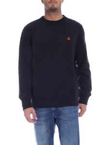 Woolrich - Black sweatshirt with red patch