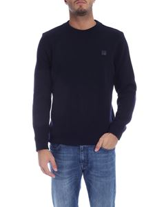 Woolrich - Blue pullover with logo patch
