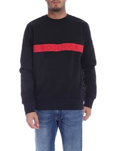 Woolrich - Black sweatshirt with red print