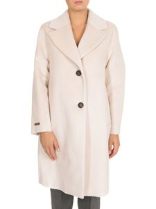 Peserico - Single-breasted coat in pale powder pink