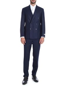 Canali - Pinstriped suit in blue