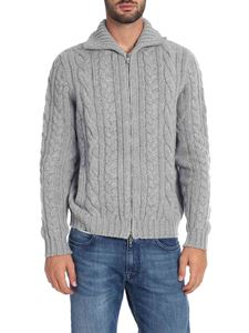 Fedeli - Cardigan in grey pure cashmere
