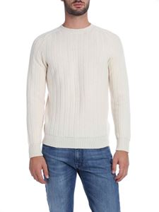 Fedeli - Pullover in cream-colored pure cashmere