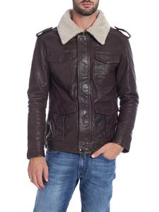 S.W.O.R.D. - Brown jacket with sheearling collar