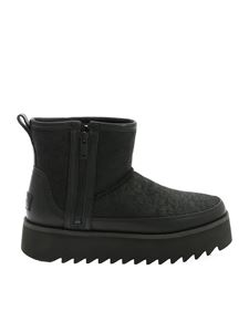 UGG - W Classic Rebel Mini ankle boots in black