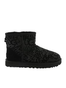 UGG Australia - Classic Mini ankle boots in black with glitter