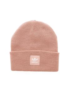 Adidas - Pink beanie with logo label