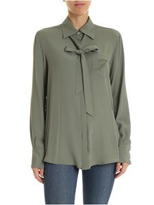 Fay - Logo embroidered shirt in green