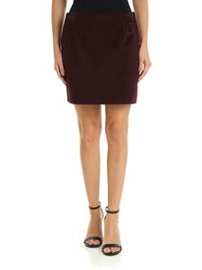 Fay - Corduroy skirt in wine color