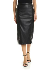 be Blumarine - Midi skirt in black eco-leather