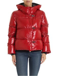 Fay - 3 Ganci hooded down jacket in red