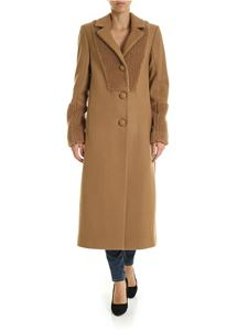 be Blumarine - Teddy coat in camel color
