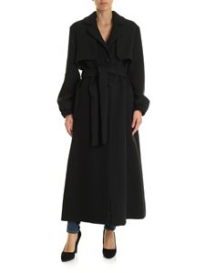 be Blumarine - Single-breasted coat in black with belt