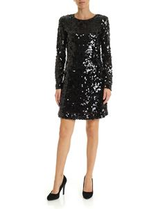 be Blumarine - Sequined dress in black