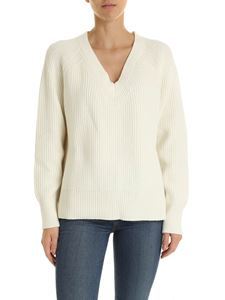 Michael Kors - Cream-colored boxy pullover with logo