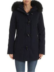 RRD Roberto Ricci Designs - Blue down jacket with fur